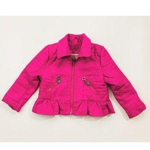 Urban Republic Girls Pink Fux Leather Coat | 18m